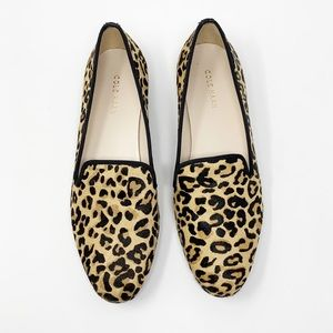 Cole Haan Leopard Print Calf Hair Loafer size 7.5